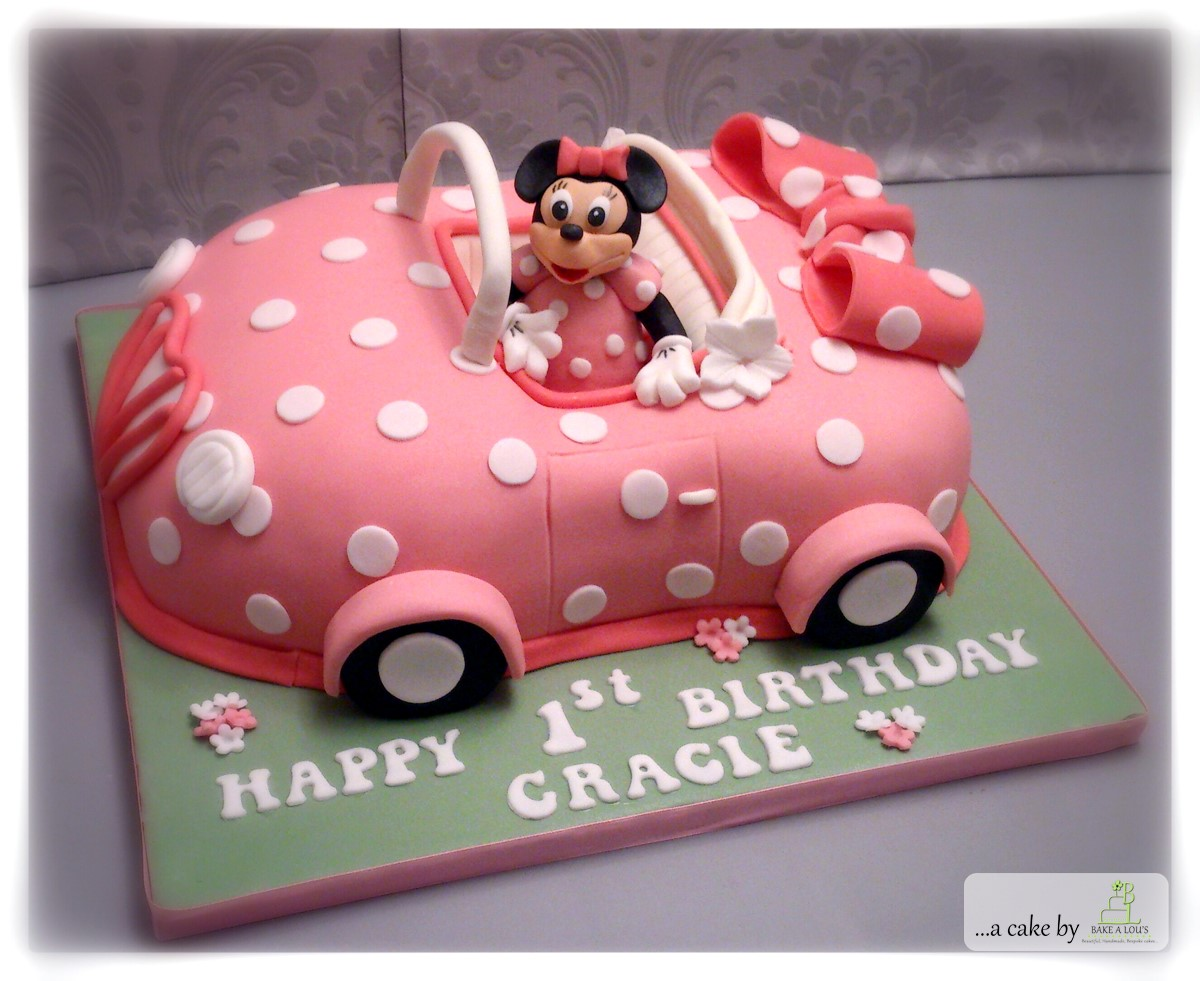 Minnie Mouse Car Cake Bakealous