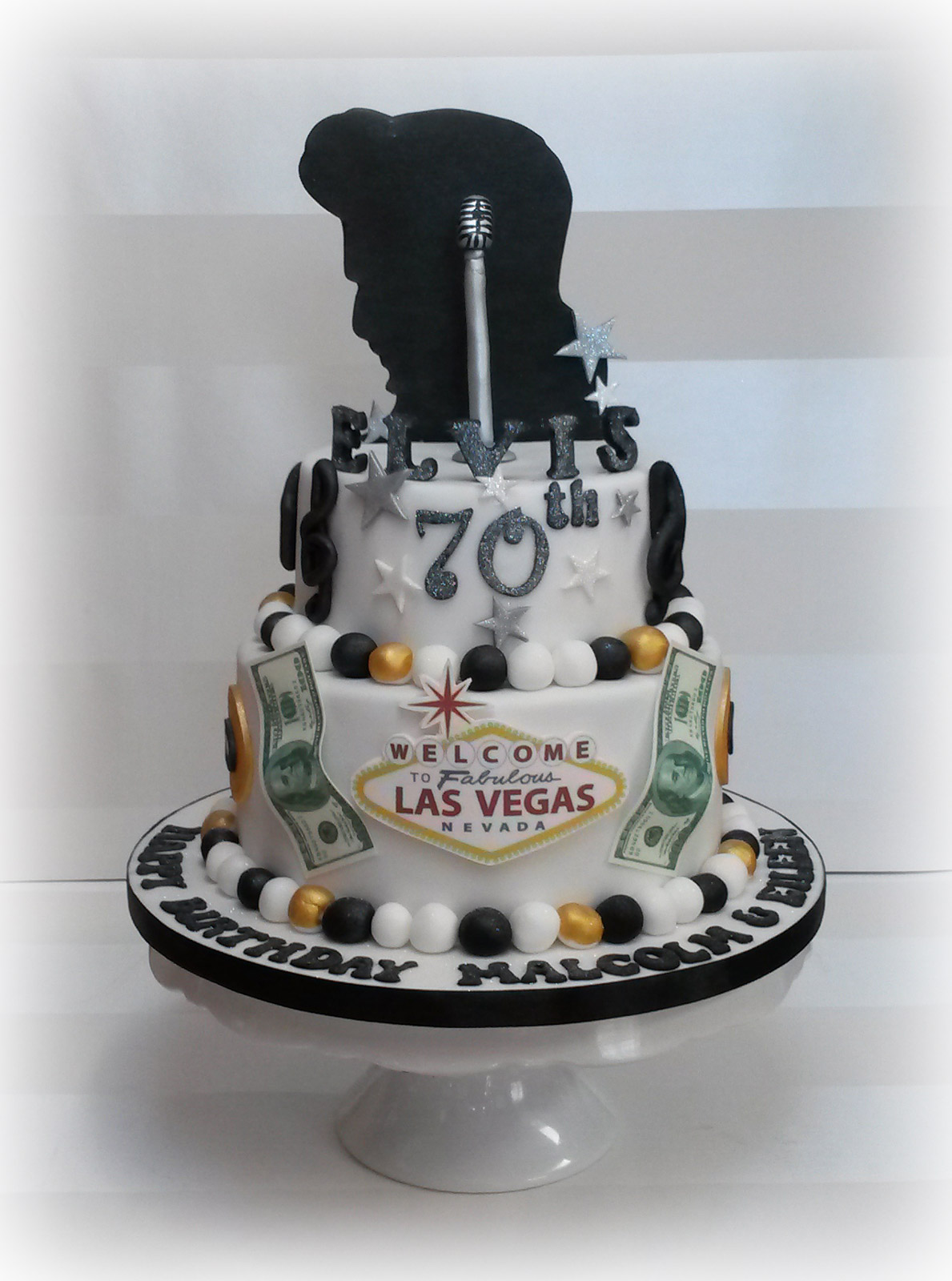 Elvis Presley 70th Birthday Cake 2 Bakealous
