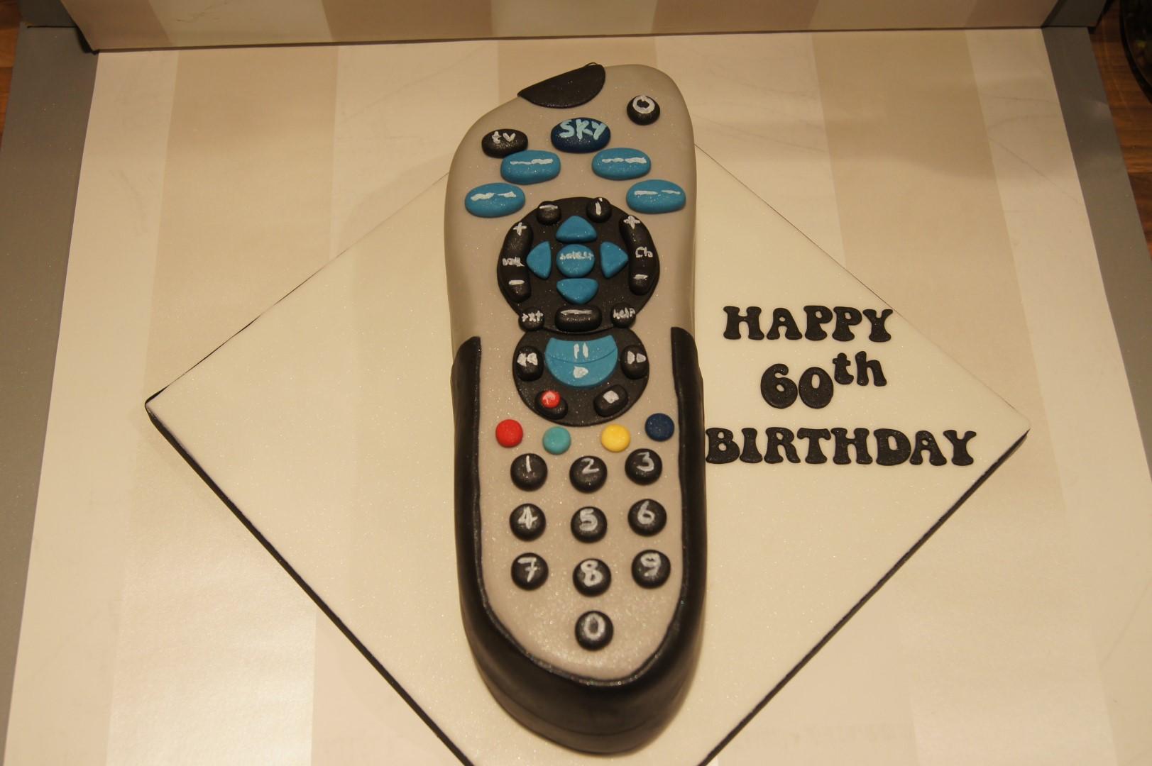Sky Box Remote Control Cake