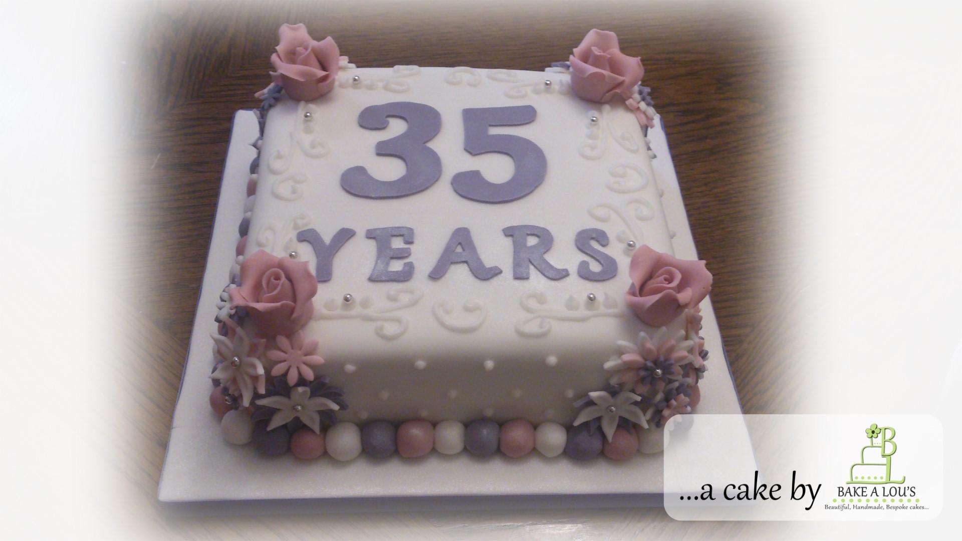 35 Years Wedding Anniversary Cake