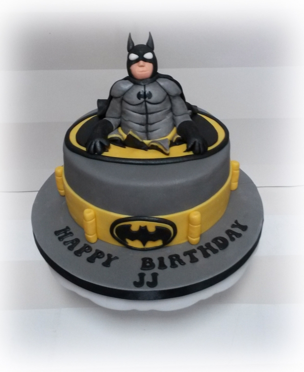 Batman Themed Boys Birthday Cake Image