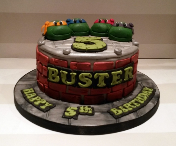 Sensational Tmnt Ninja Turtles Birthday Cake Bakealous Funny Birthday Cards Online Alyptdamsfinfo