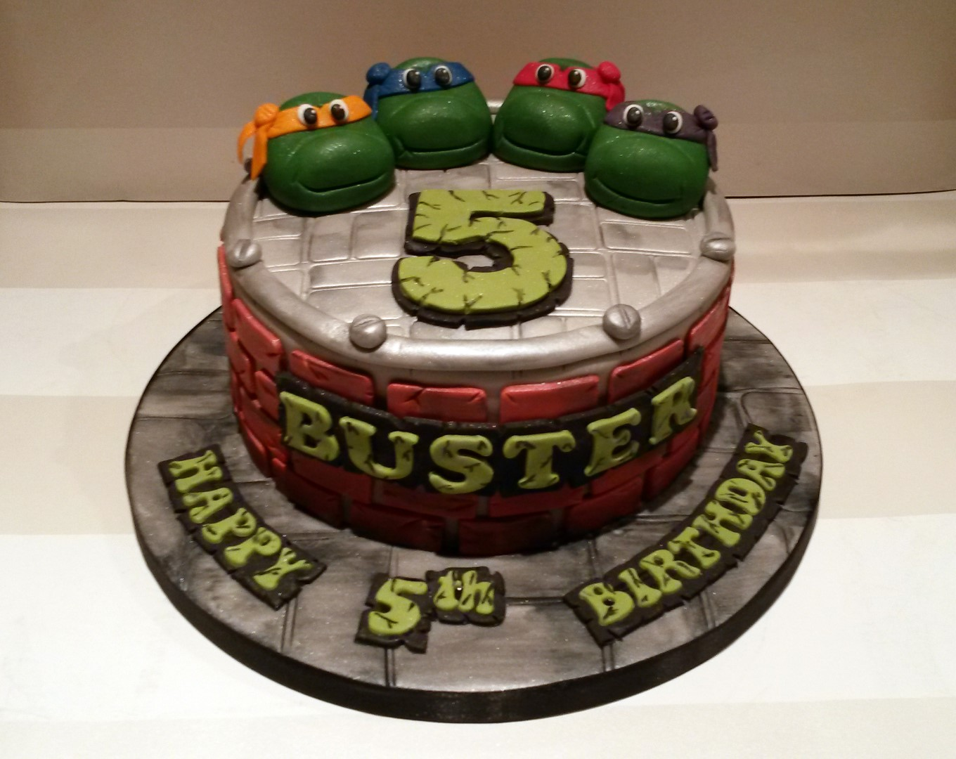 Tmnt Ninja Turtles Birthday Cake Bakealous