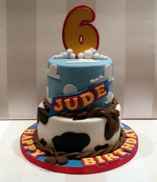 Toy Story Themed 2 Tier Birthday Cake Bakealous