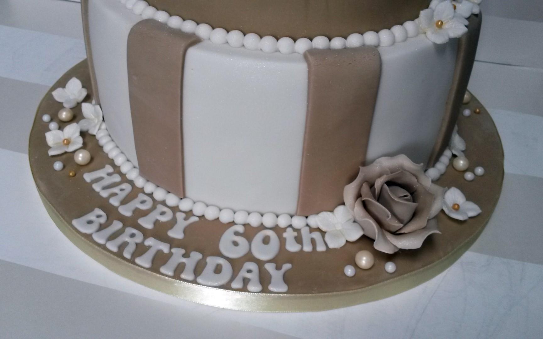 Vintage Style 60th Birthday Cake - Bakealous