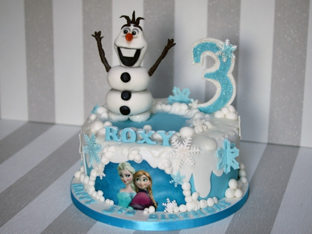 Birthday Cake Ideas Disney Frozen : Disney Frozen Cake Olaf and Elsa Birthday Cake - Bakealous