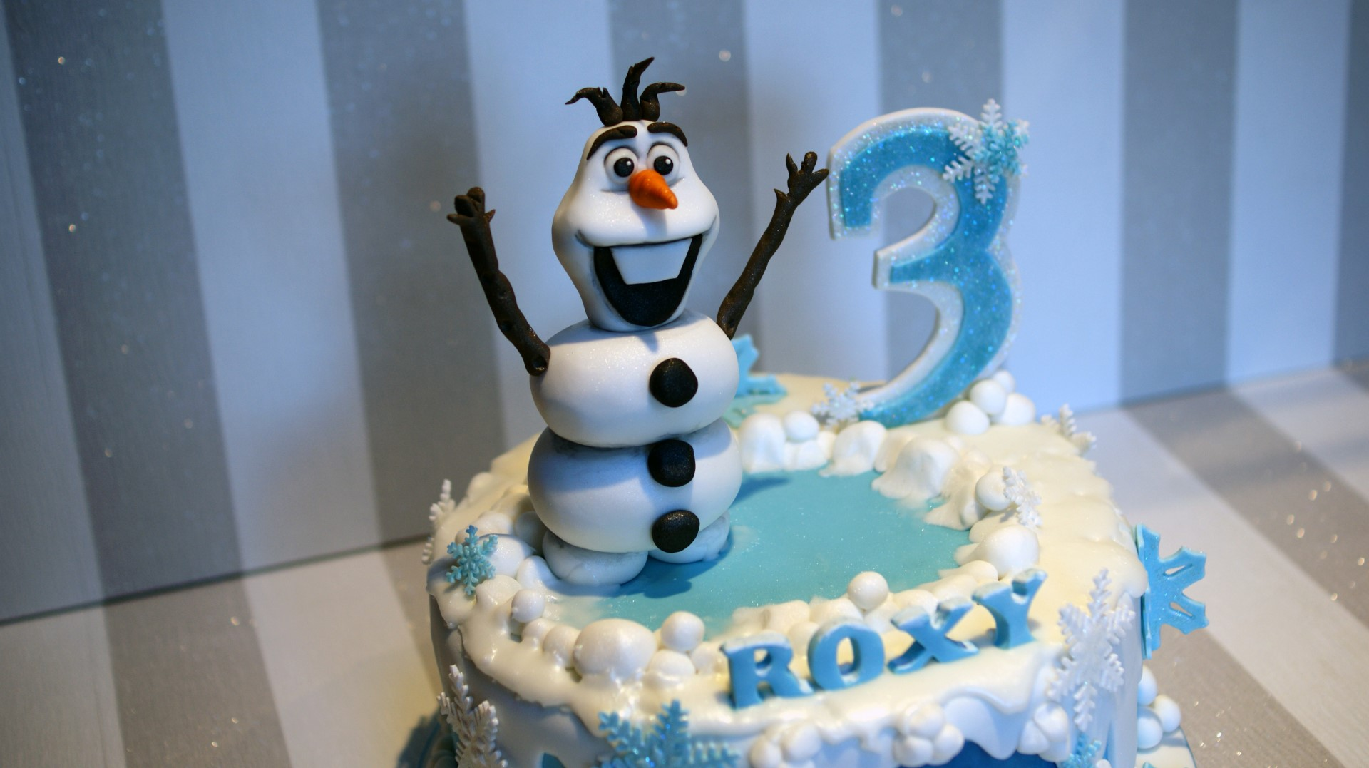 Disney Frozen Cake Olaf and Elsa Birthday Cake Bakealous