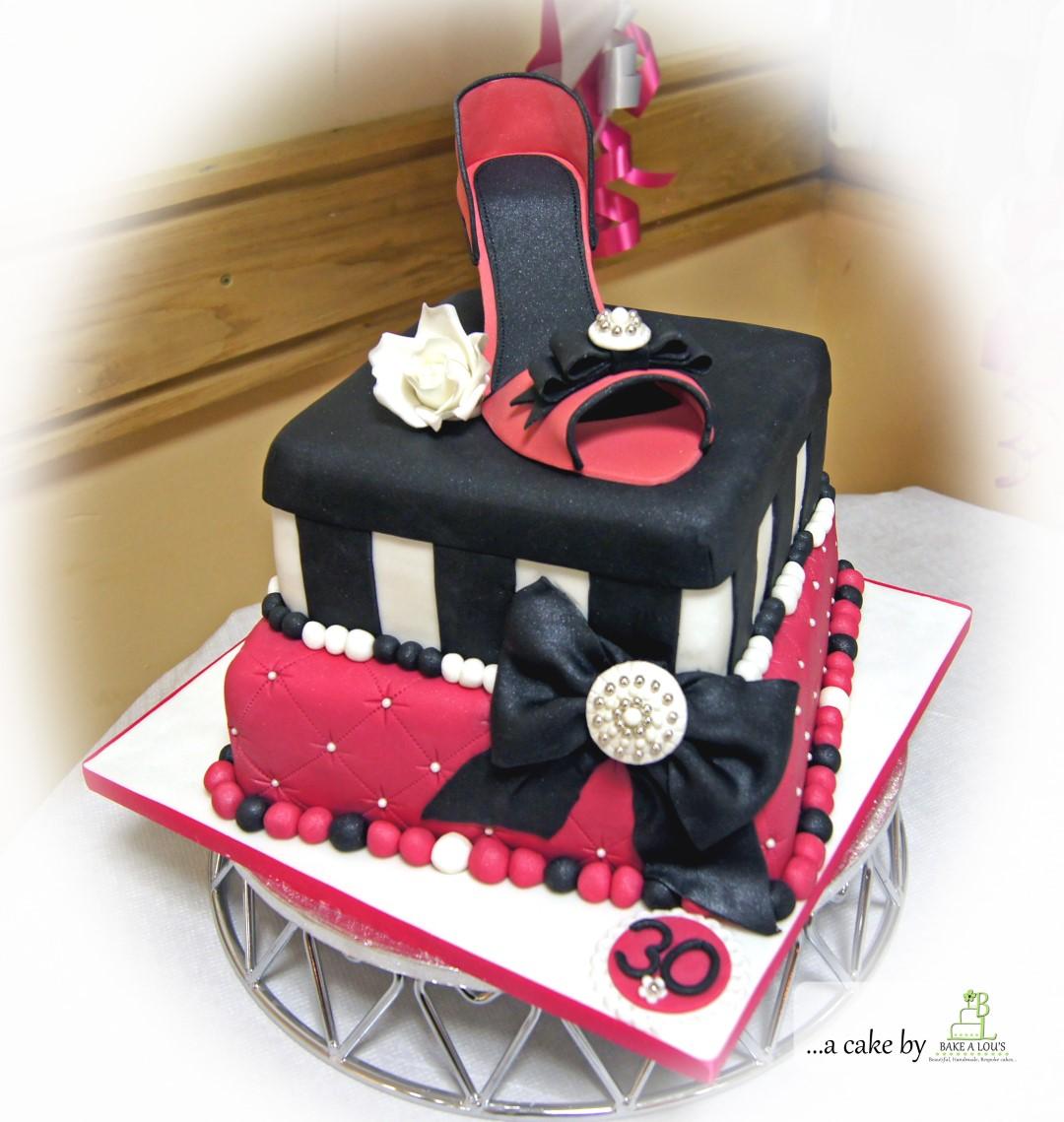 Shoe And Cushion 30th Birthday Cake Bakealous