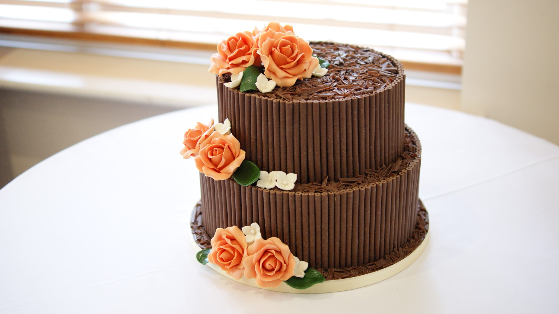 2 tier chocolate wedding cake recipe 2 tier chocolate cigarello wedding cake bakealous 10119