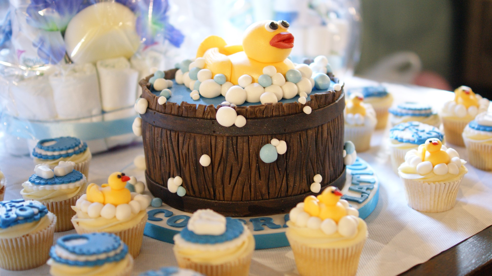 baby shower cakes cupcakes duck themed baby shower cake and cupcakes