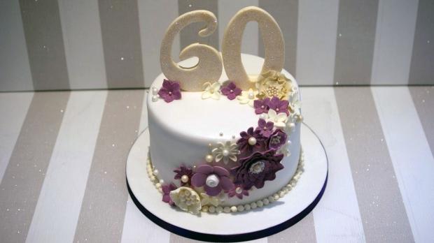 Diamond Wedding Anniversary Cake 1