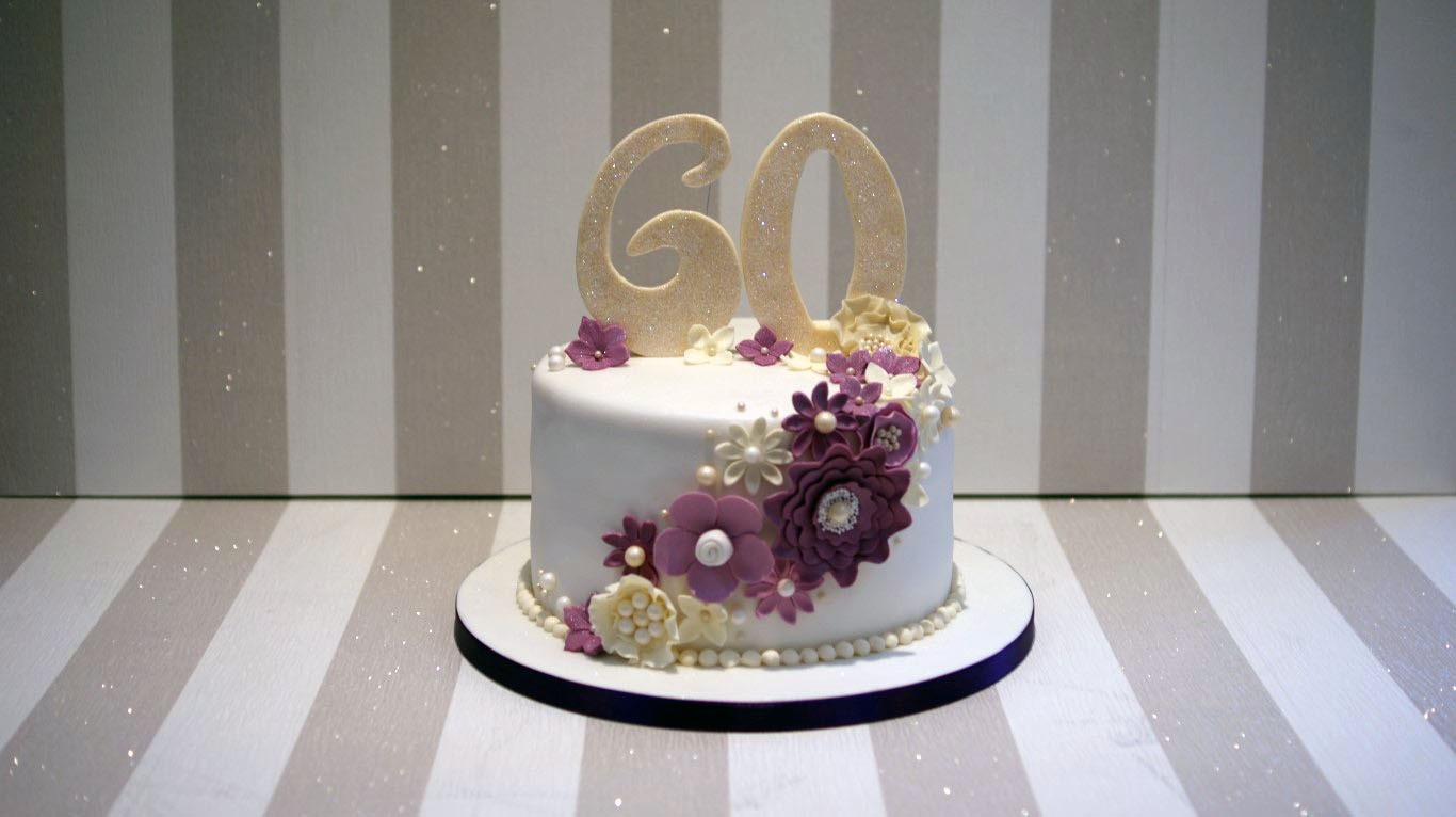 60th Wedding Anniversary Cake - Bakealous