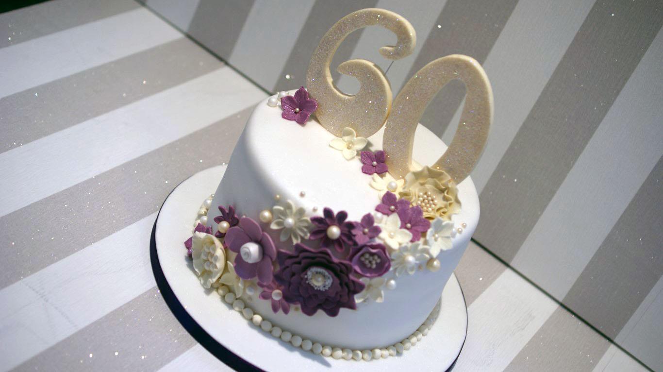 60th wedding anniversary cake bakealous. Black Bedroom Furniture Sets. Home Design Ideas
