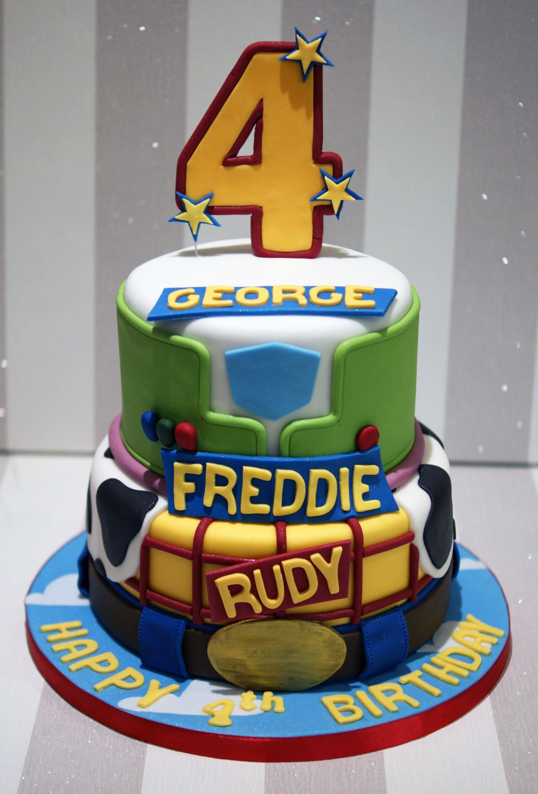 Toy Story 4th Birthday Cake Bakealous