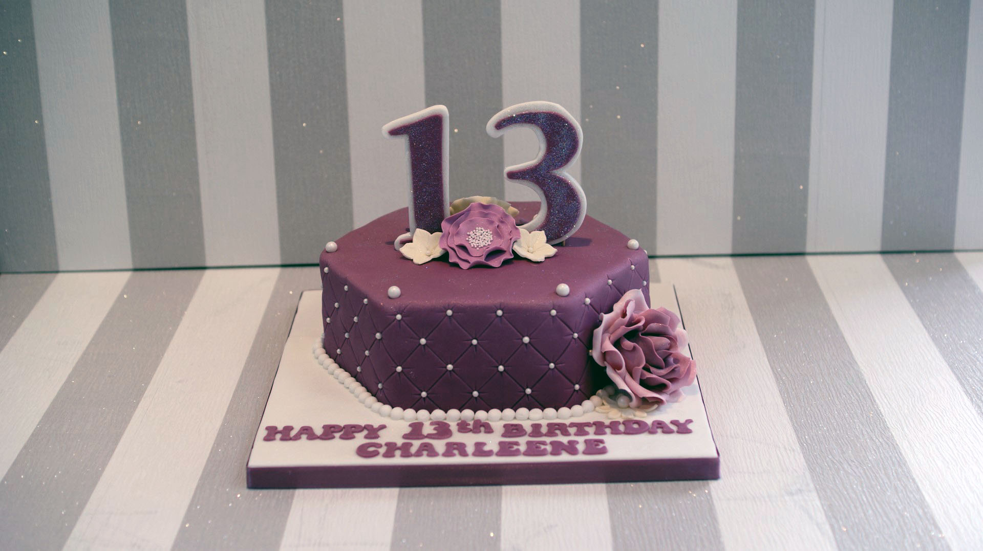 Pretty 13th Birthday Cake