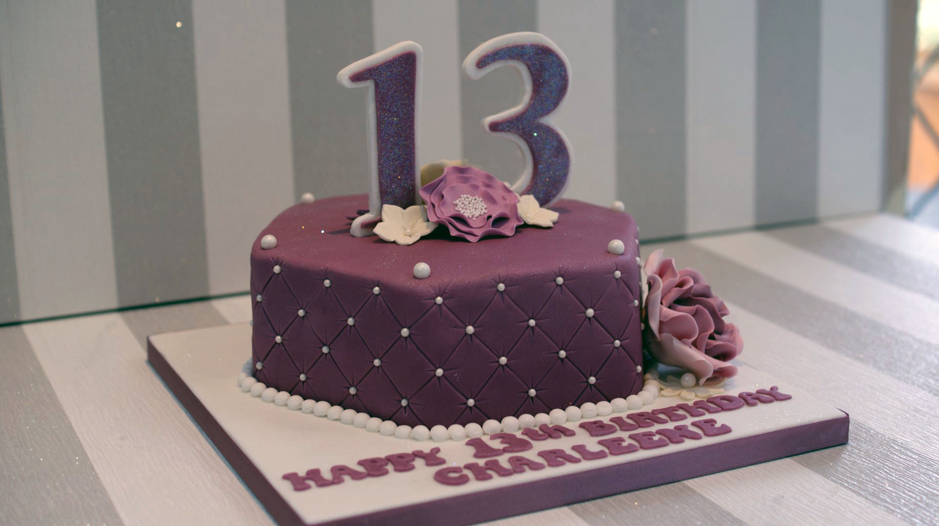 Pretty 13th Birthday Cake Bakealous