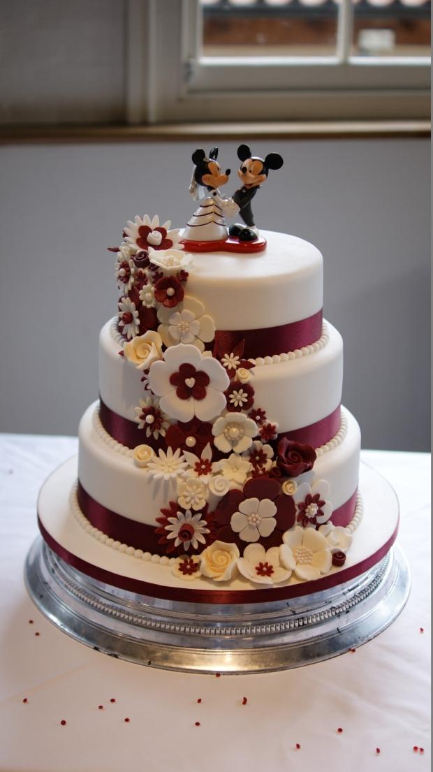disney-3-tier-wedding-cake-draped-floral-design (16)