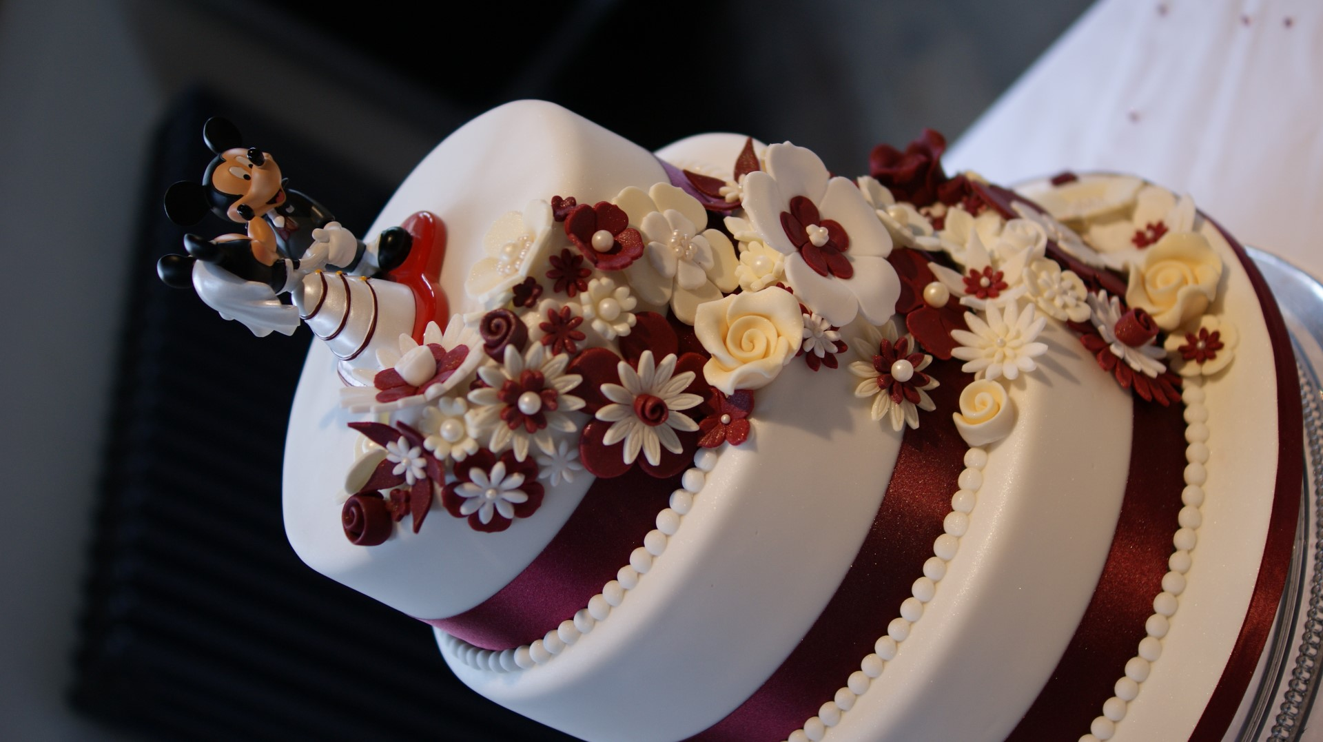 Disney Theme 3 Tier Wedding Cake - Bakealous