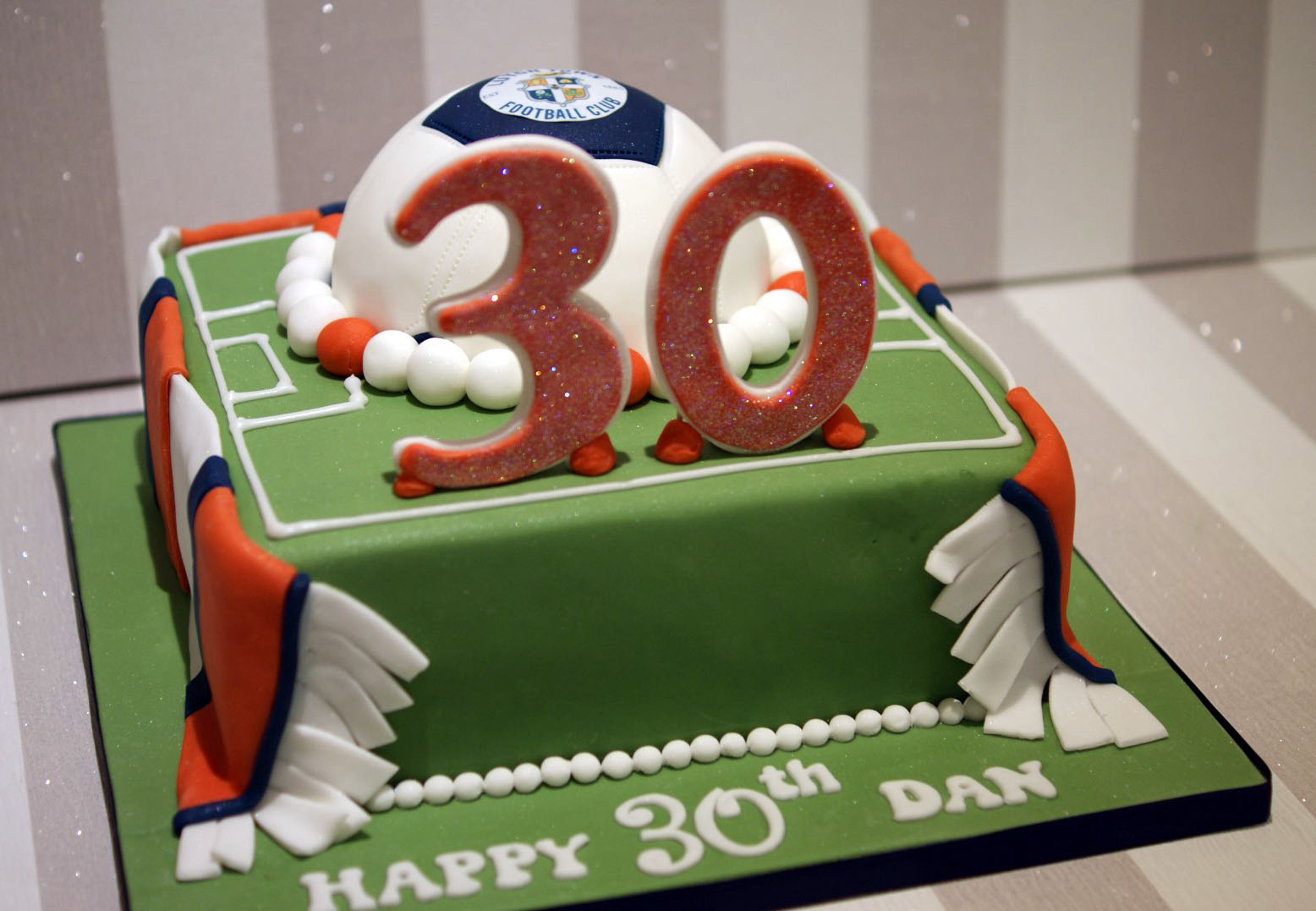 Luton Town Football Club 30th Birthday Cake Bakealous