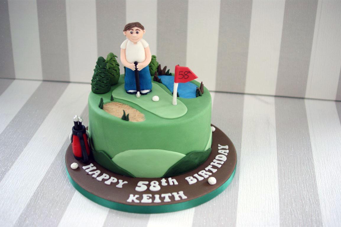 Golf Course 58th Birthday Cake Bakealous