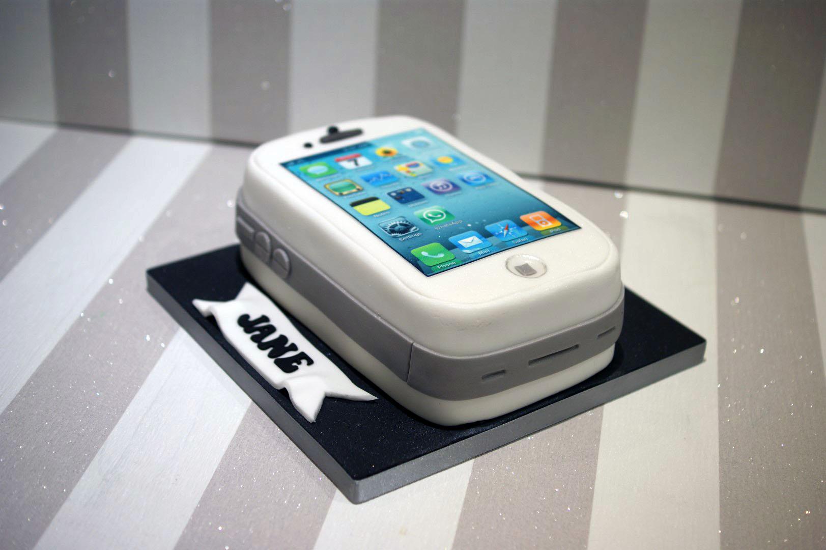 Iphone Birthday Cake Bakealous