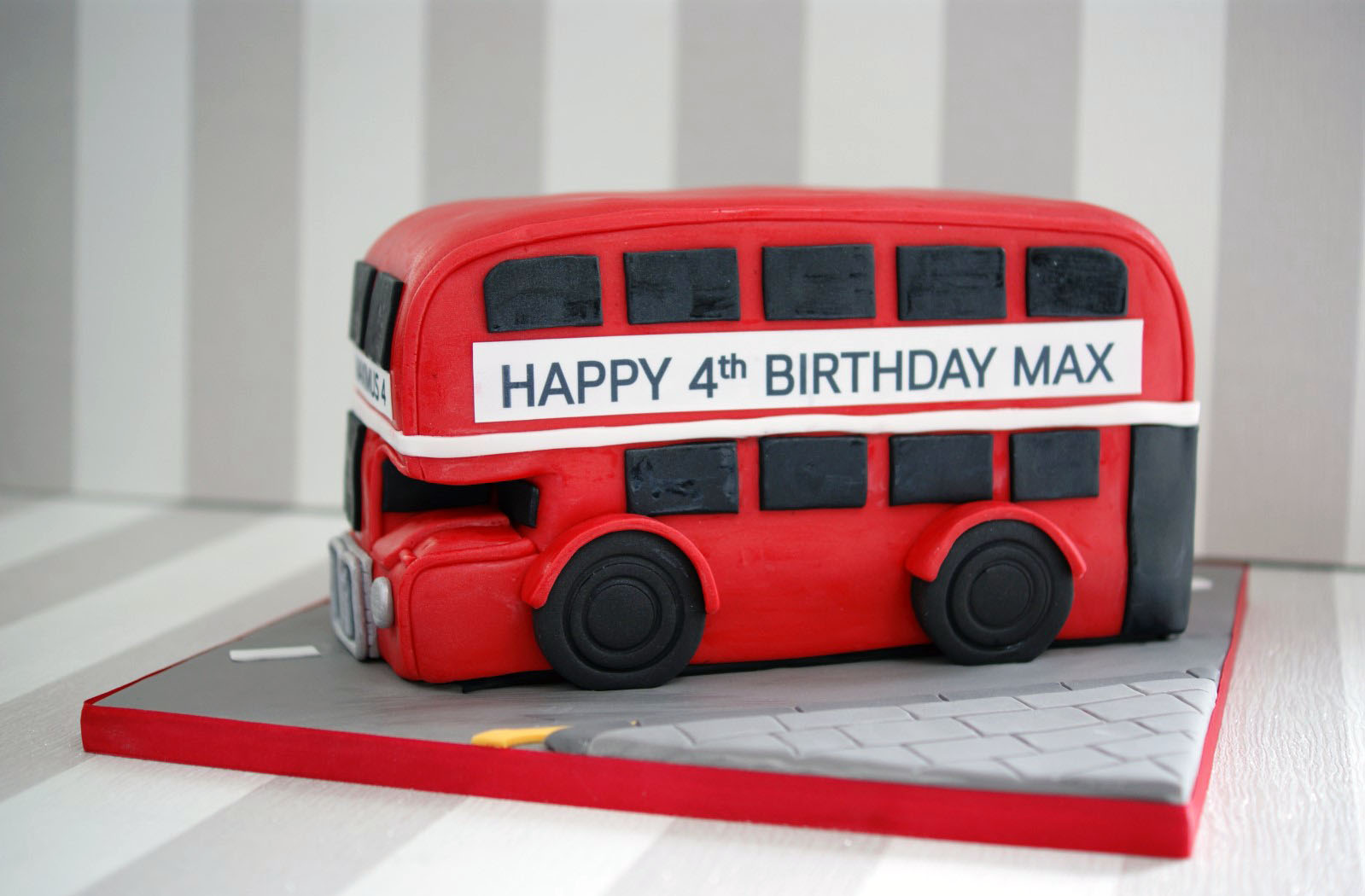 London Bus Cake For 4th Birthday