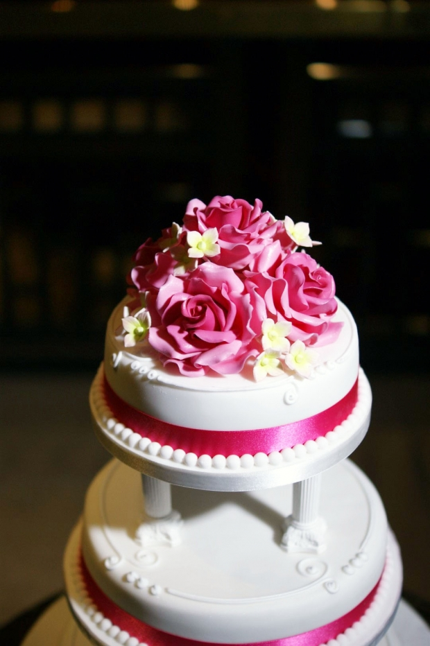 Rose Cluster Tiered Wedding Cake Bakealous