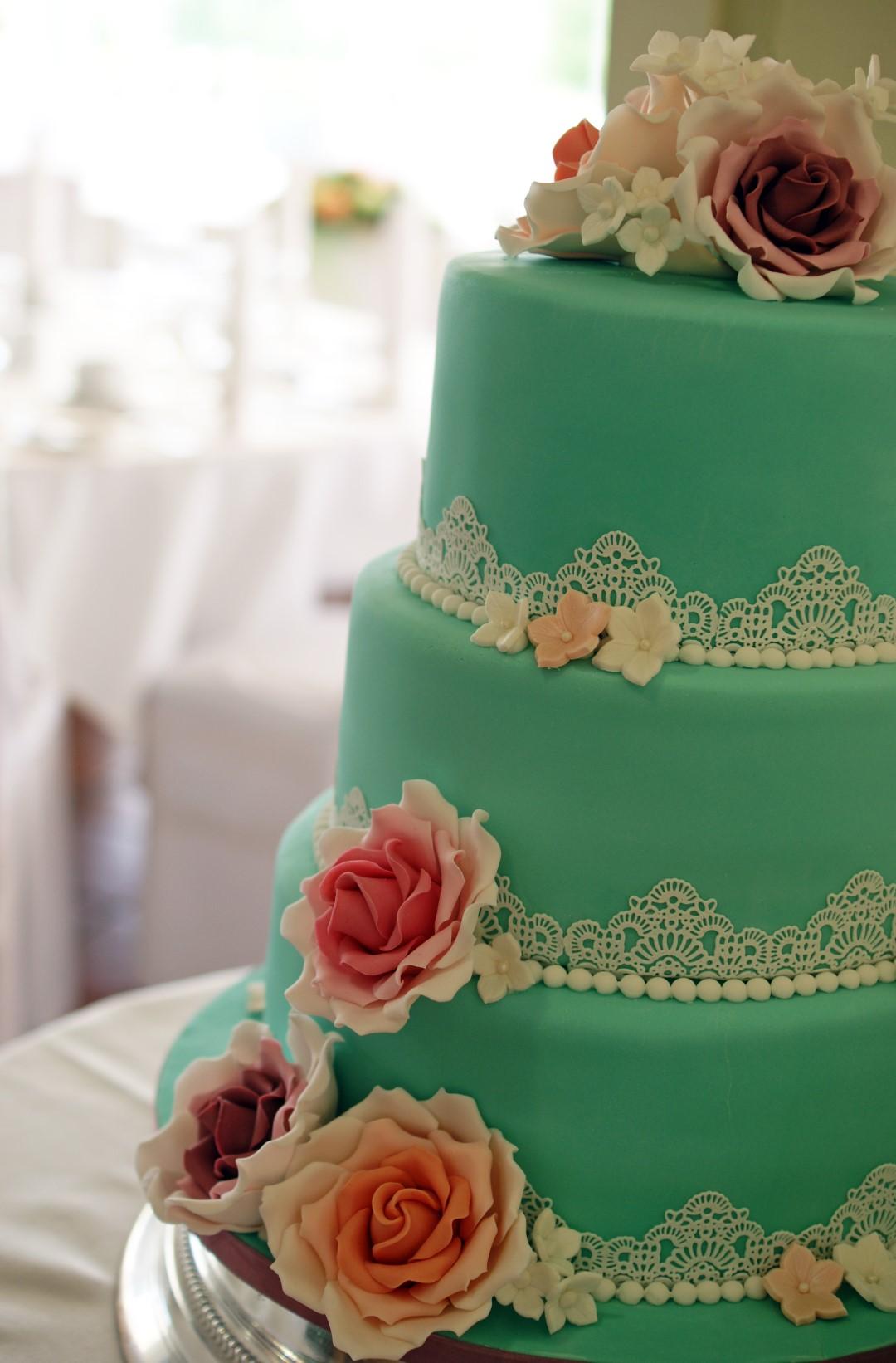 3 Tier Vintage Lace Wedding Cake Bakealous