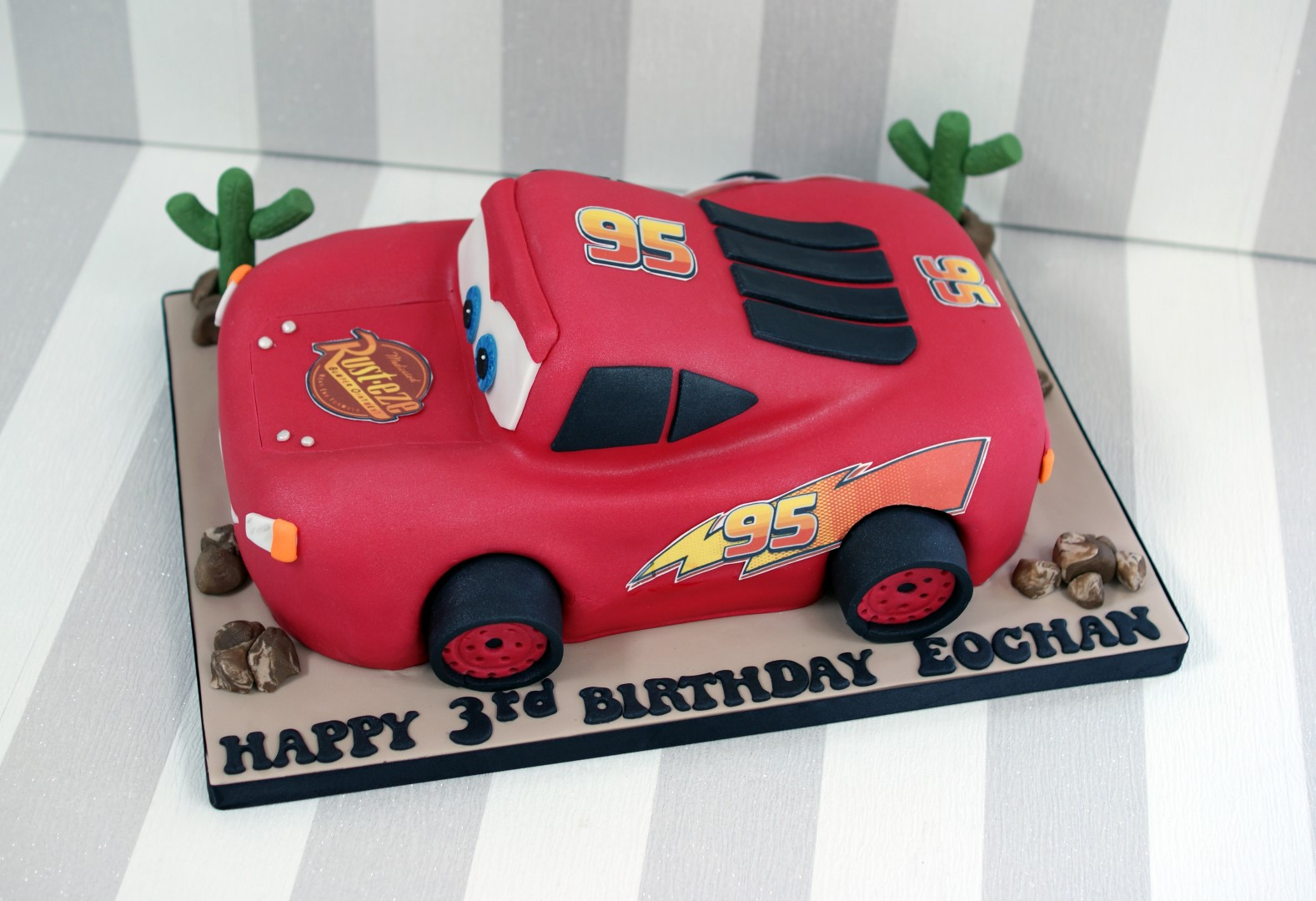 3D Lightning McQueen Car Birthday Cake Bakealous