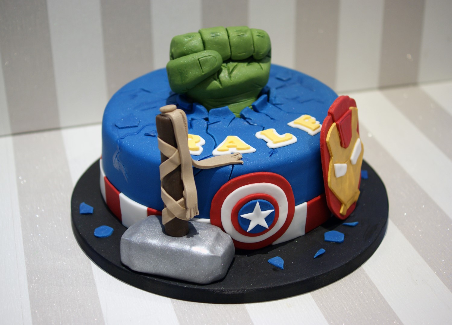 Avengers themed Birthday Cake Bakealous