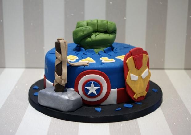 Avengers themed Birthday Cake - Bakealous