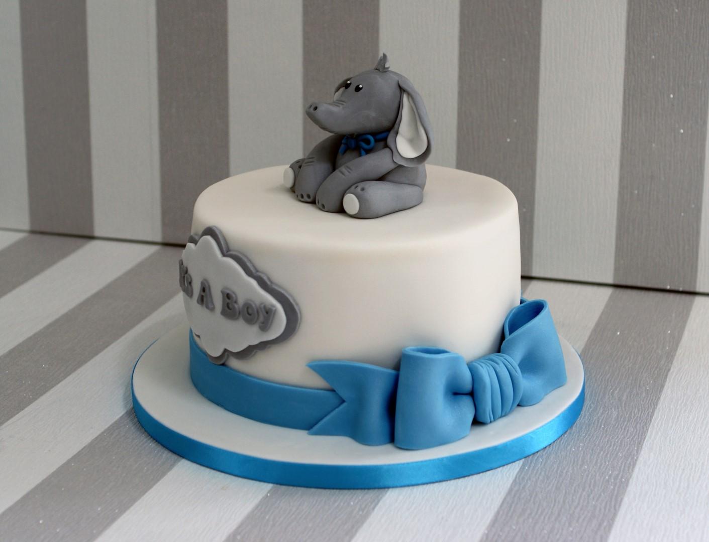 Elephant Baby Shower Cake ...