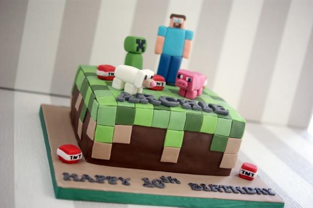Minecraft 10th Birthday Cake 4 Large