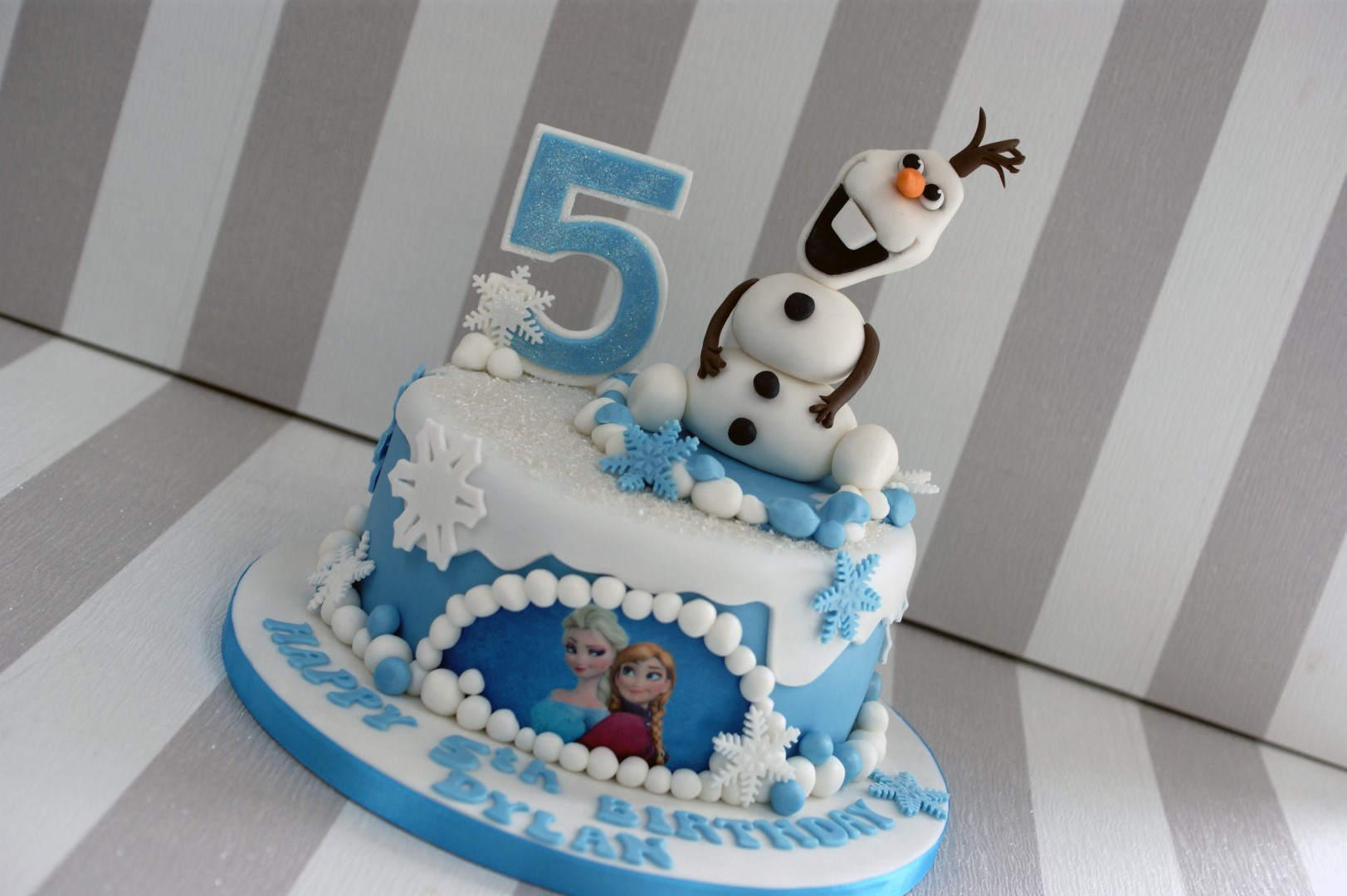 Olaf Disney Frozen 5th Birthday Cake Bakealous