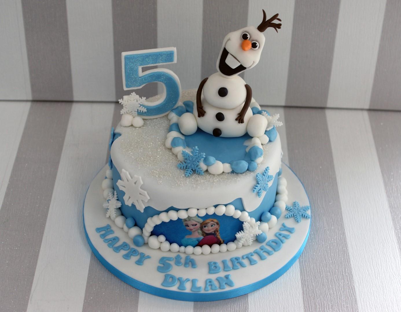 olafdisneyfrozen5thbirthdaycake 5 Large Bakealous