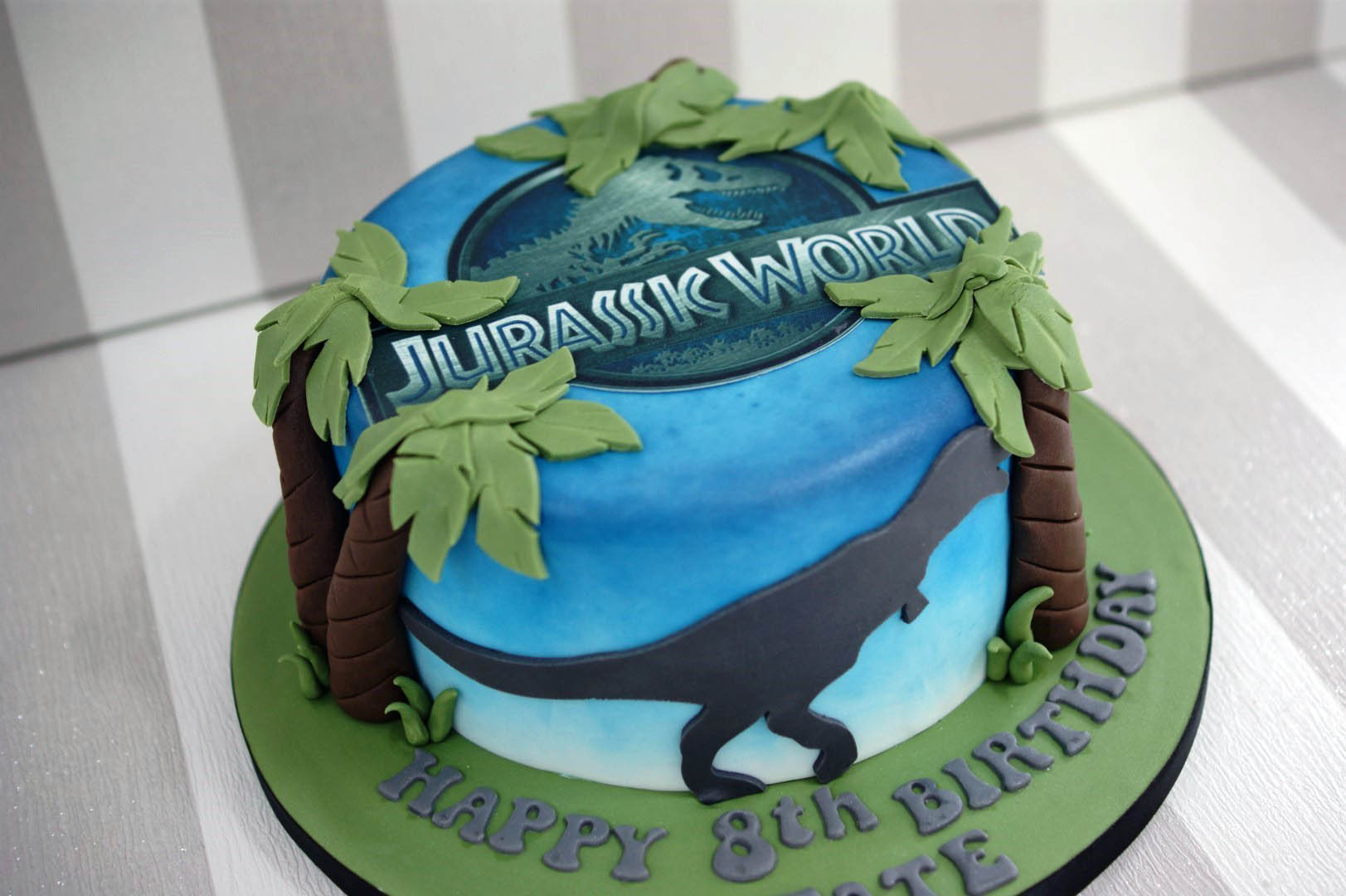 Jurassic World 8th Birthday Cake Bakealous