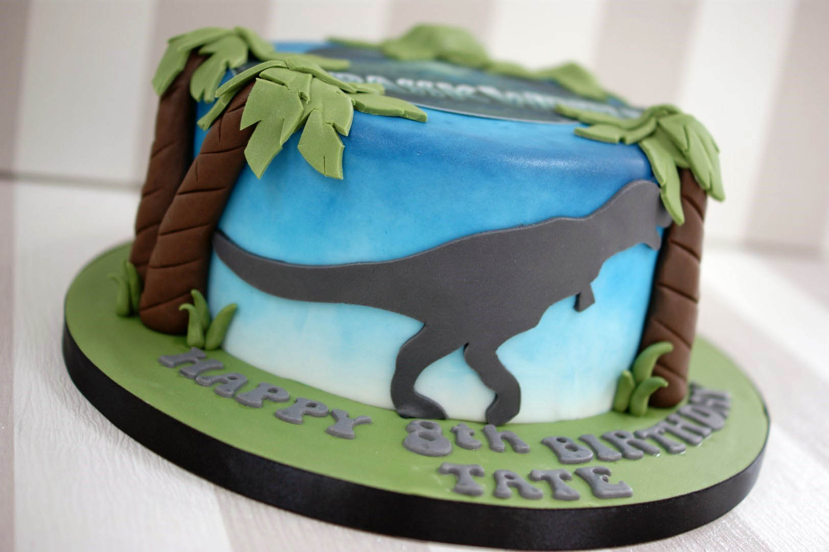 Jurassic World 8th Birthday Cake - Bakealous