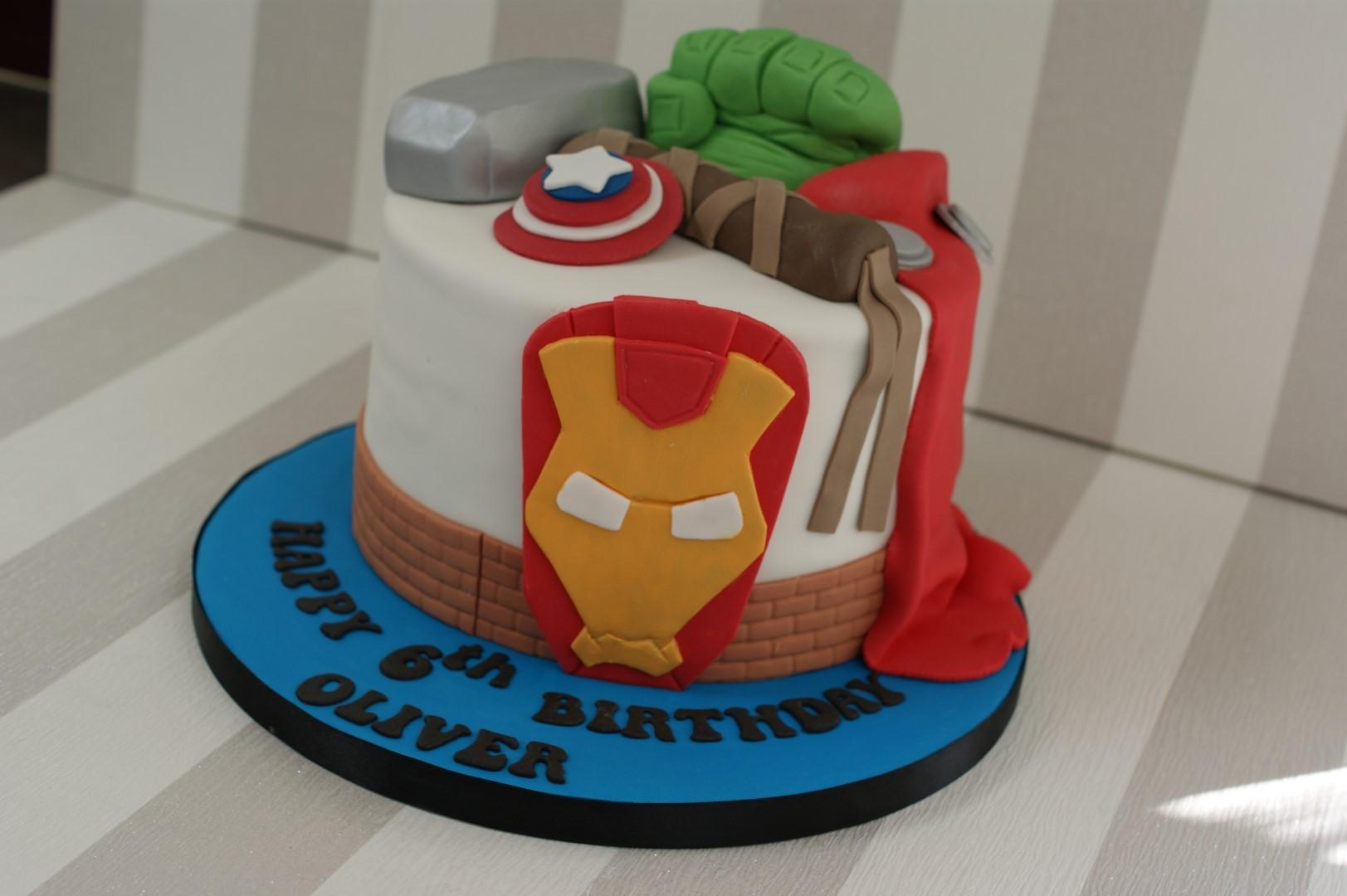 Avengers 6th Birthday Cake - Bakealous