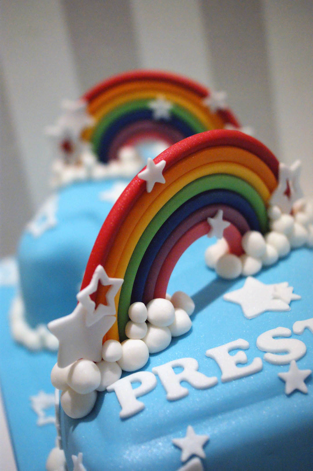 Rainbow Themed 1st Birthday Cake Bakealous