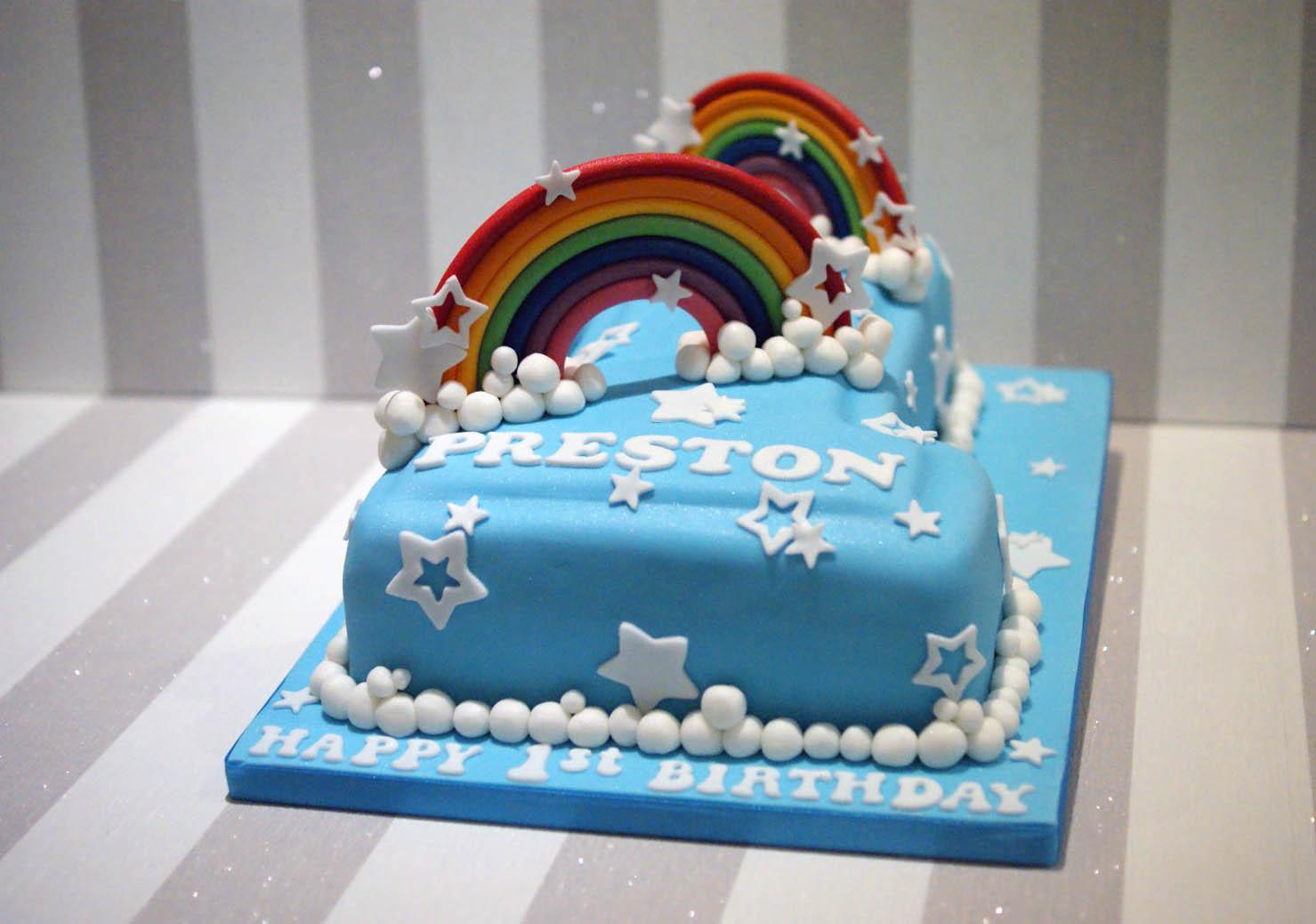 Rainbow Themed 1st Birthday Cake Gallery