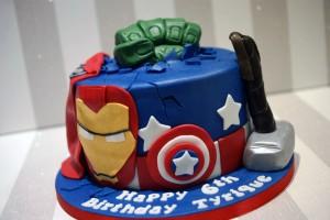 Awe Inspiring Marvel Cakes Archives Bakealous Funny Birthday Cards Online Elaedamsfinfo