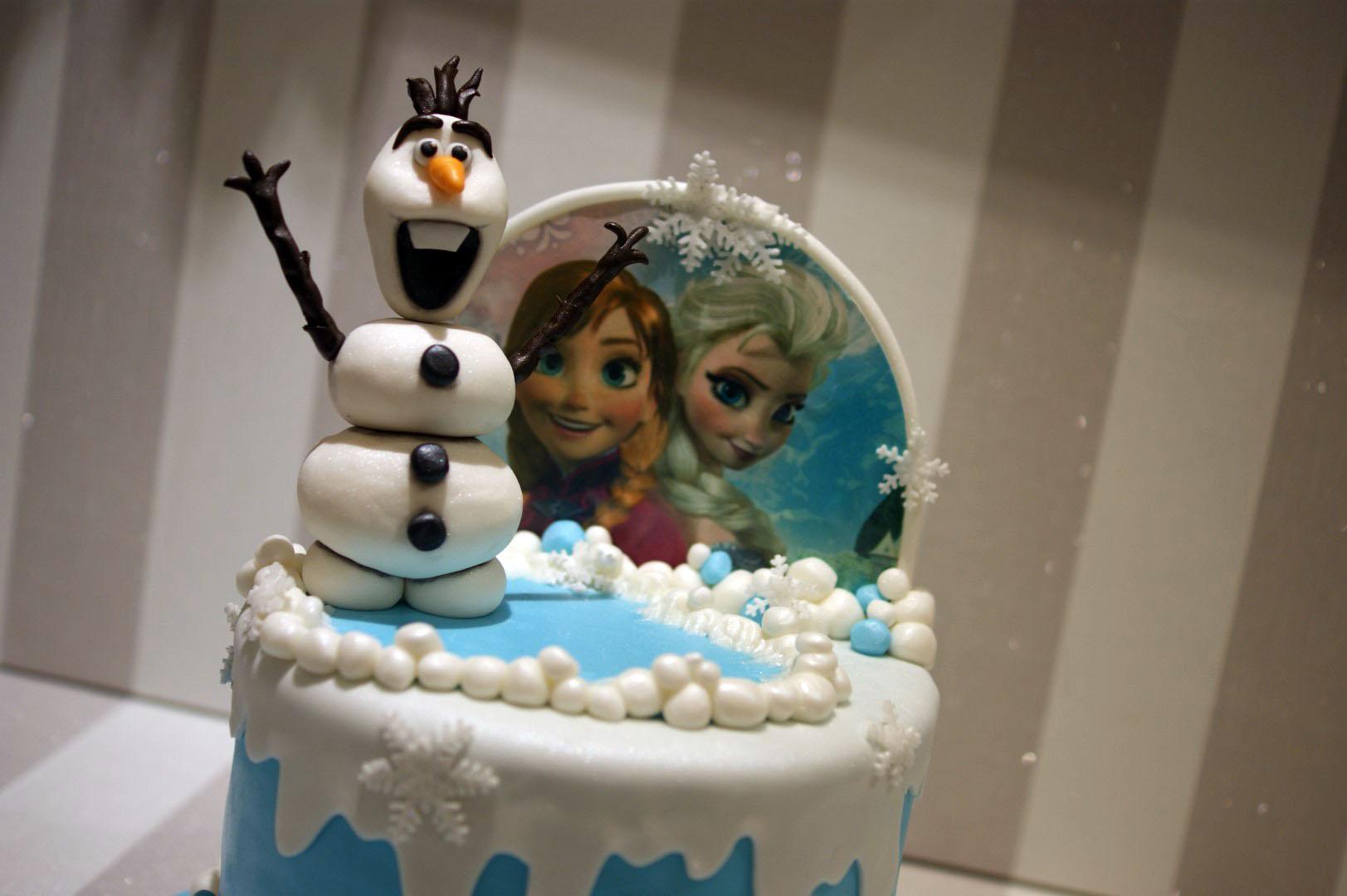 Disney Frozen Olaf Elsa Ana Birthday Cake