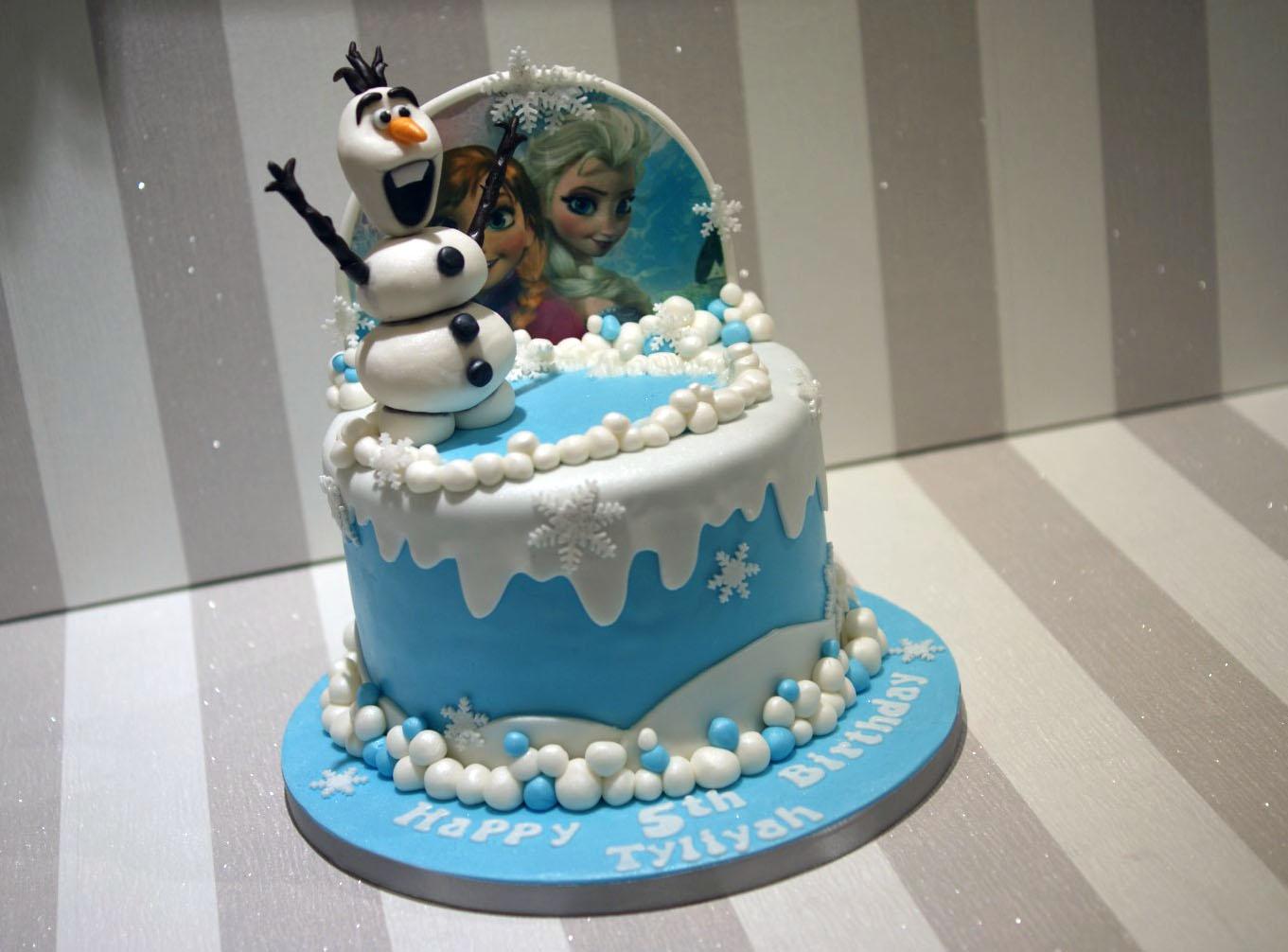 Awesome Disney Frozen Olaf Elsa Ana Birthday Cake 3 Bakealous Funny Birthday Cards Online Elaedamsfinfo