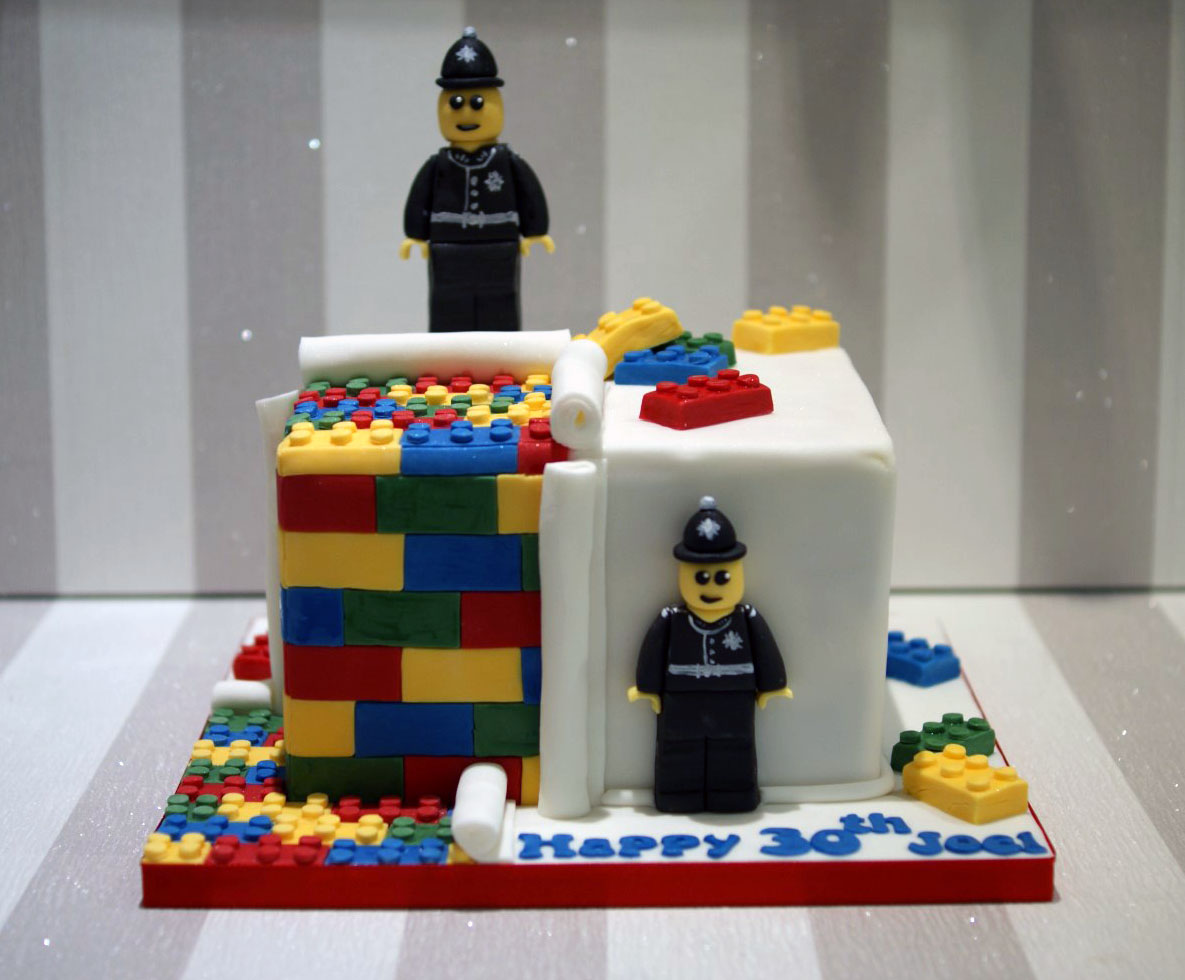 Lego Police 30th Birthday Cake Bakealous