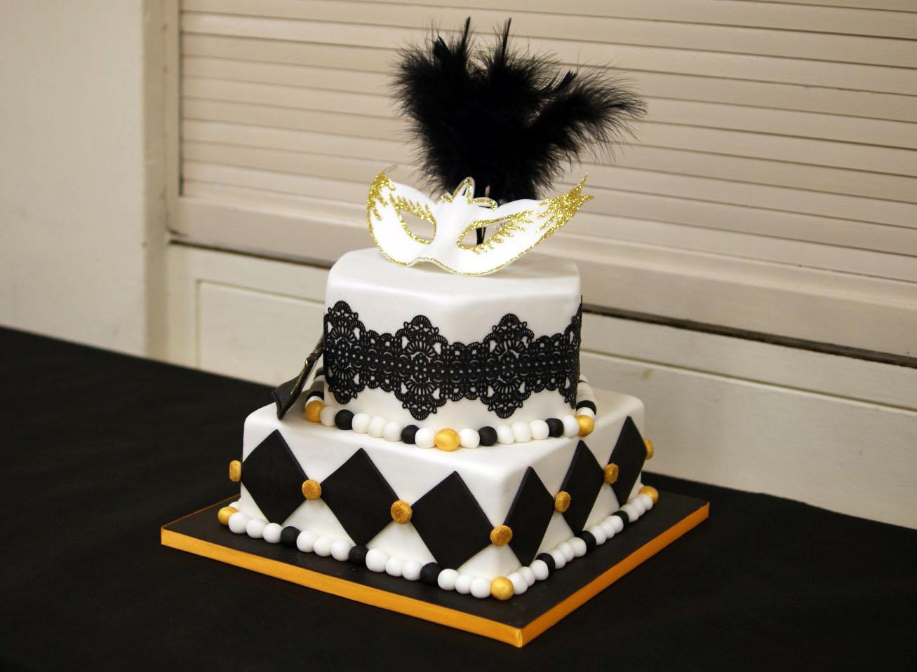 Masquerade Birthday Cake - Bakealous