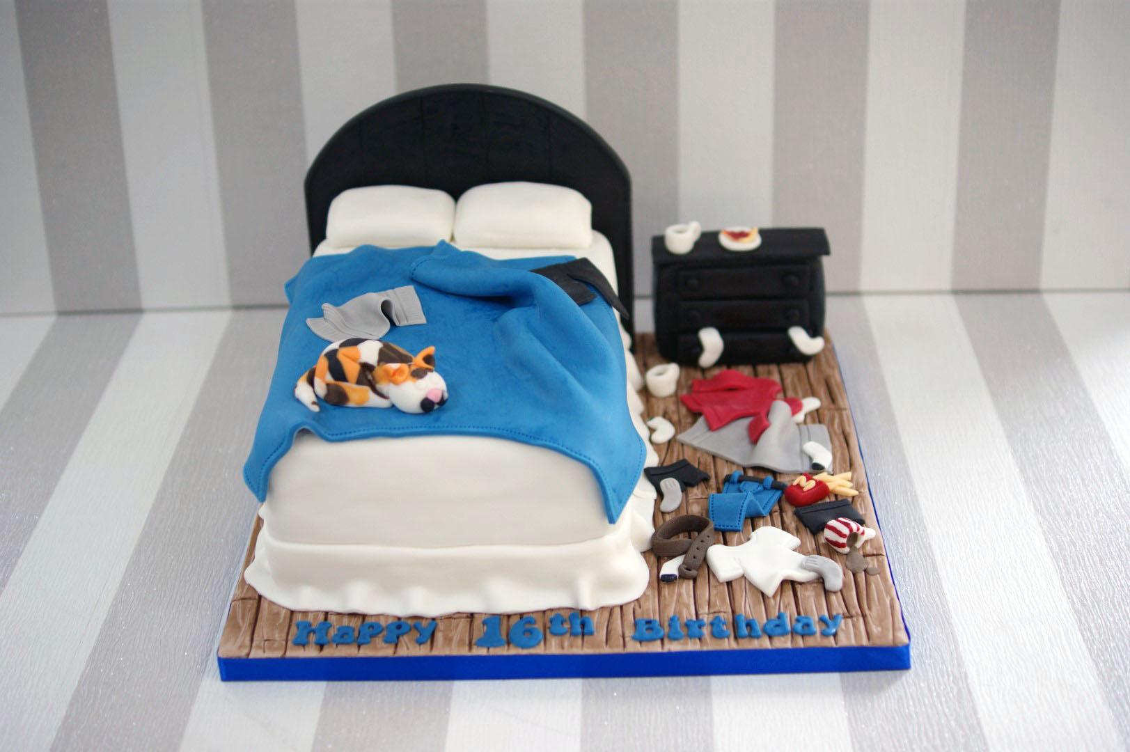 Disney Bedroom Decor Messy Bedroom Cake Bakealous