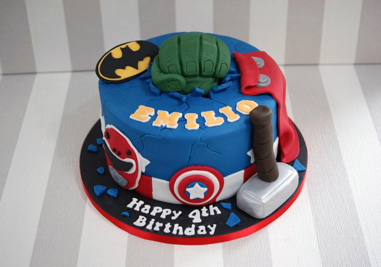 Pleasing Power Rangers And Avengers Birthday Cake 1 Bakealous Funny Birthday Cards Online Alyptdamsfinfo
