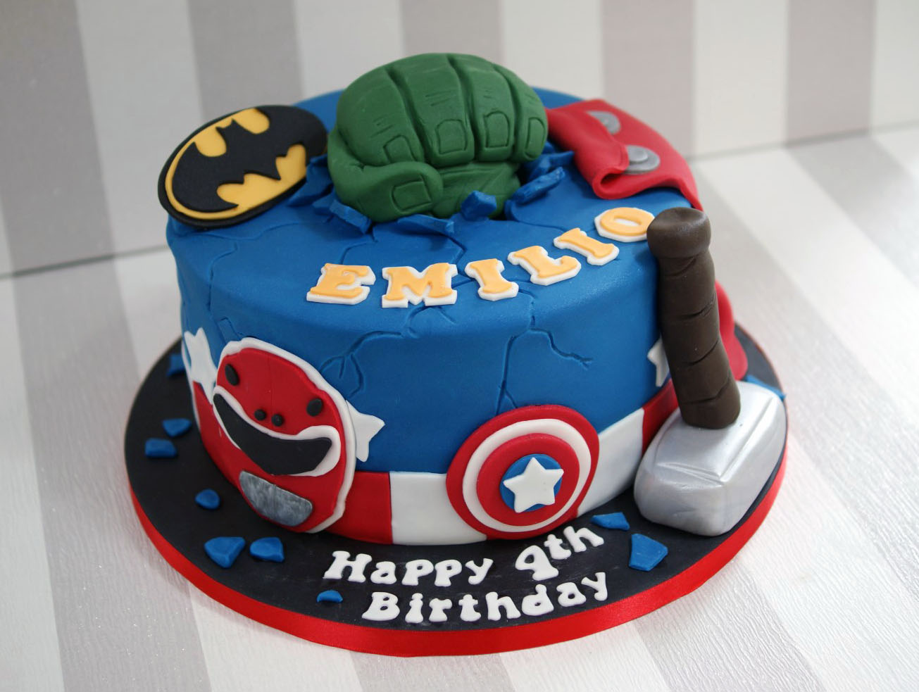 Power Rangers Avengers Birthday Cake Bakealous