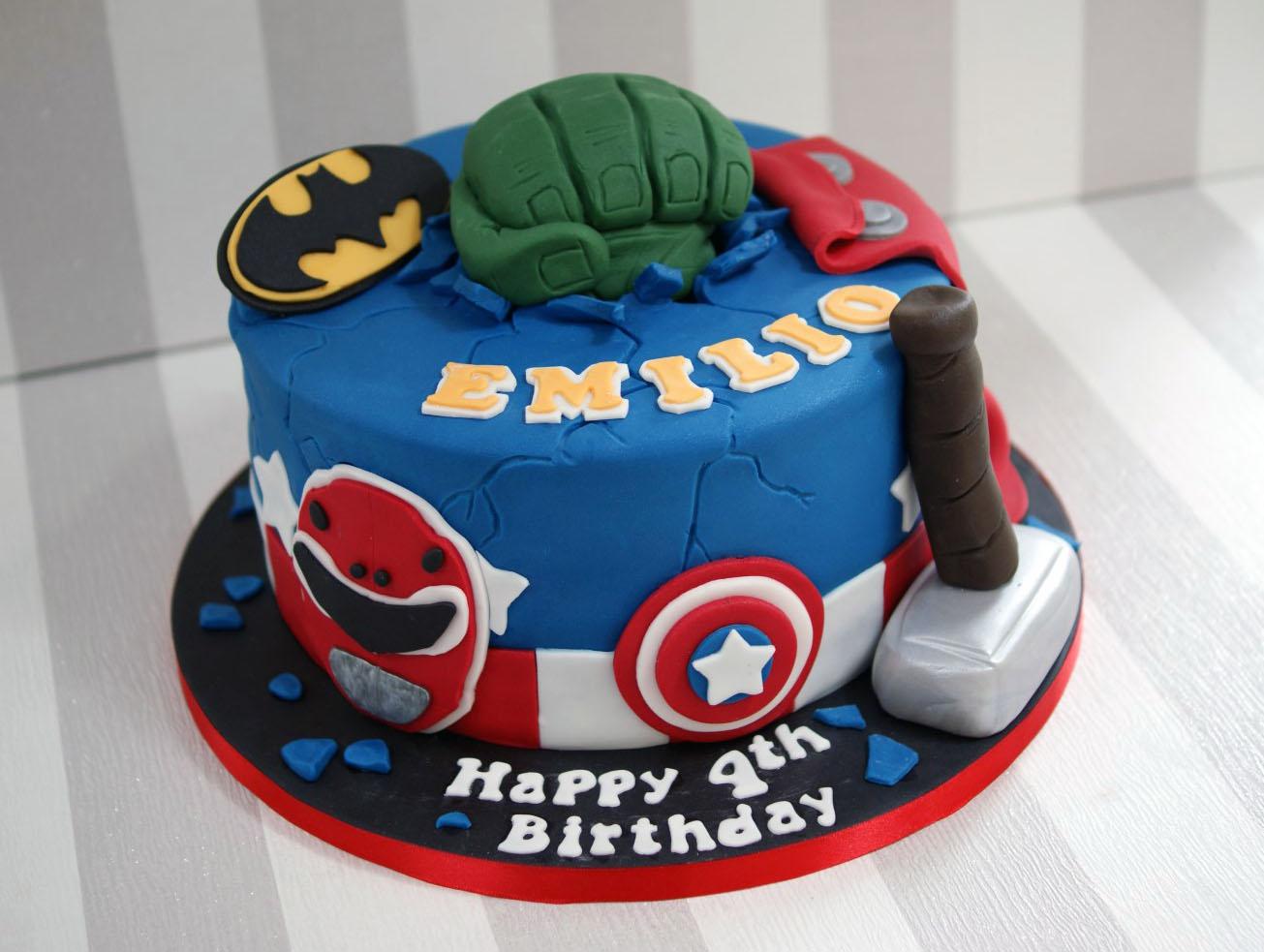 Power Rangers And Avengers Birthday Cake