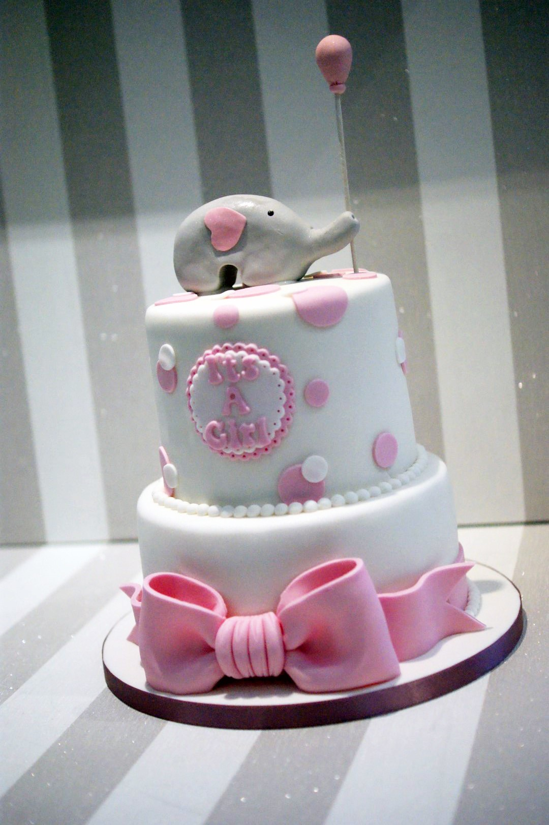 baby shower cakes 2 tier elephant baby shower cake posted 2 years ago